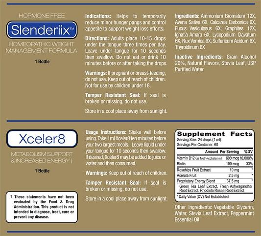 ariix slenderiix & xceler8 label