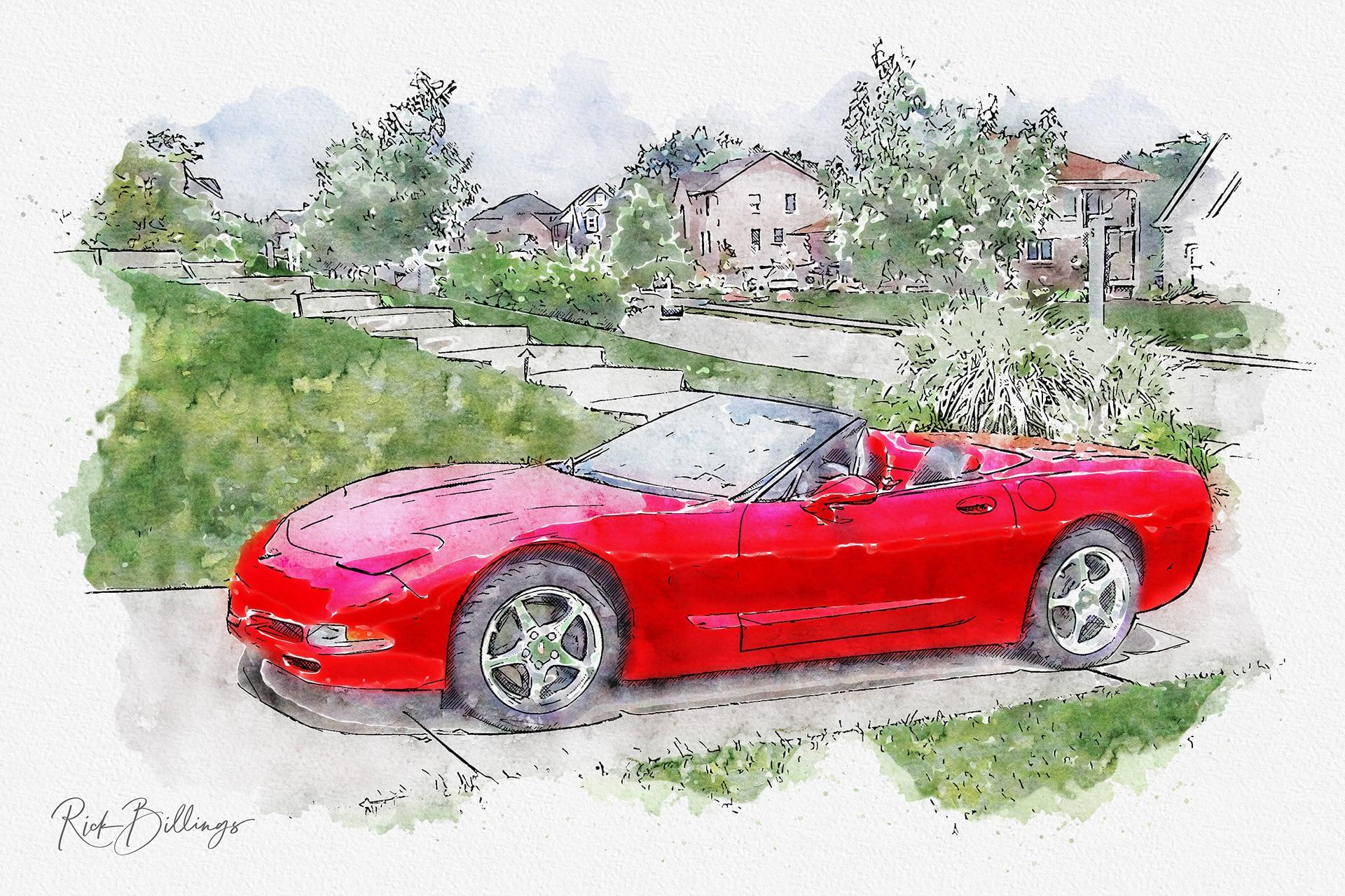 No 1098 20010624 Red Corvette